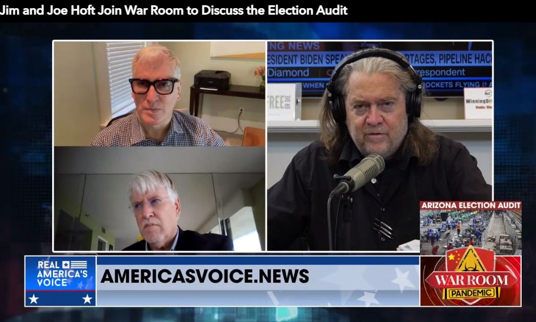 The Gateway Pundit's Jim and Joe Hoft Join Steve Bannon to Discuss the Criminal Destruction of Voting Machine Evidence in Arizona